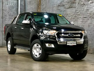 2016 Ford Ranger PX MkII XLT Double Cab Black 6 Speed Sports Automatic Utility.