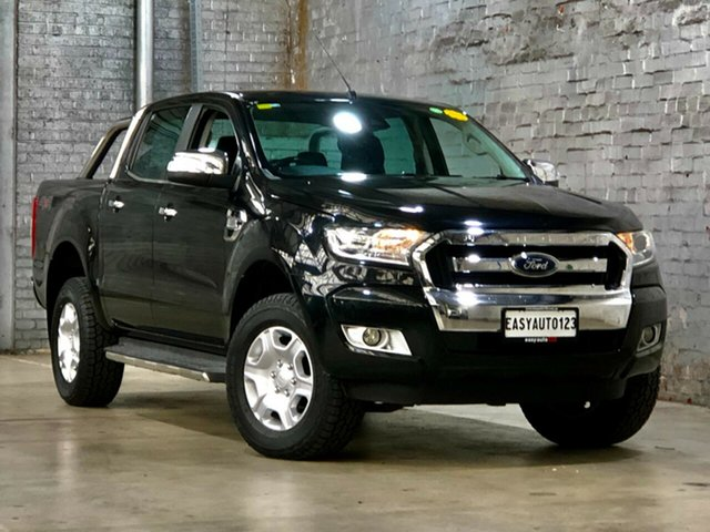 Used Ford Ranger PX MkII XLT Double Cab Mile End South, 2016 Ford Ranger PX MkII XLT Double Cab Black 6 Speed Sports Automatic Utility