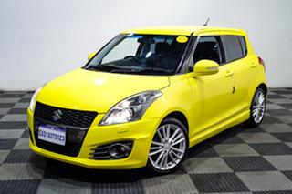 2013 Suzuki Swift FZ Sport Yellow 6 Speed Manual Hatchback.