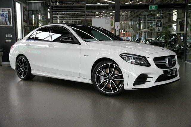 Used Mercedes-Benz C-Class W205 809MY C43 AMG 9G-Tronic 4MATIC North Melbourne, 2019 Mercedes-Benz C-Class W205 809MY C43 AMG 9G-Tronic 4MATIC White 9 Speed Sports Automatic Sedan