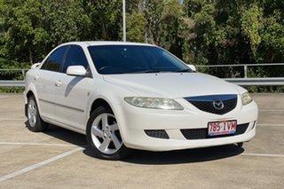 2005 Mazda 6 GG Classic White 4 Speed Auto Activematic Sedan.
