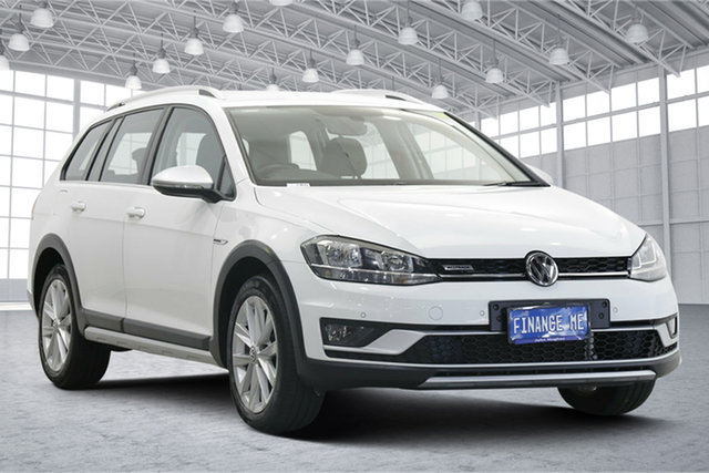 Used Volkswagen Golf 7.5 MY18 Alltrack DSG 4MOTION 132TSI Victoria Park, 2018 Volkswagen Golf 7.5 MY18 Alltrack DSG 4MOTION 132TSI White 6 Speed Sports Automatic Dual Clutch