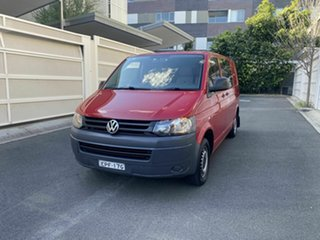 2011 Volkswagen Transporter T5 MY12 TDI340 Low Roof SWB DSG Red 7 Speed Sports Automatic Dual Clutch