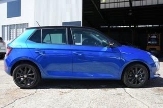 2021 Skoda Fabia NJ MY21 81TSI DSG Run-Out Edition Blue 7 Speed Sports Automatic Dual Clutch