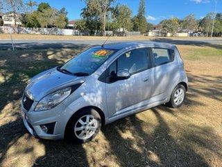 2012 Holden Barina Spark MJ MY12 CD Silver 5 Speed Manual Hatchback.
