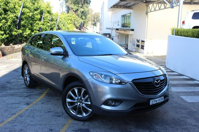 Used Mazda CX-9 TB10A5 Grand Touring Activematic AWD Waitara, 2015 Mazda CX-9 TB10A5 Grand Touring Activematic AWD Silver 6 Speed Sports Automatic Wagon