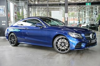 2019 Mercedes-Benz C-Class C205 809MY C300 9G-Tronic Blue 9 Speed Sports Automatic Coupe.