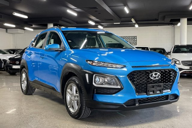 Used Hyundai Kona OS.3 MY20 Active 2WD Albion, 2019 Hyundai Kona OS.3 MY20 Active 2WD Blue 6 Speed Sports Automatic Wagon