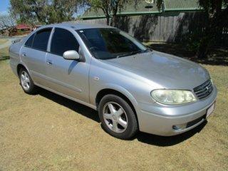 2005 Nissan Pulsar N16 MY2004 ST-L Silver 4 Speed Automatic Sedan.