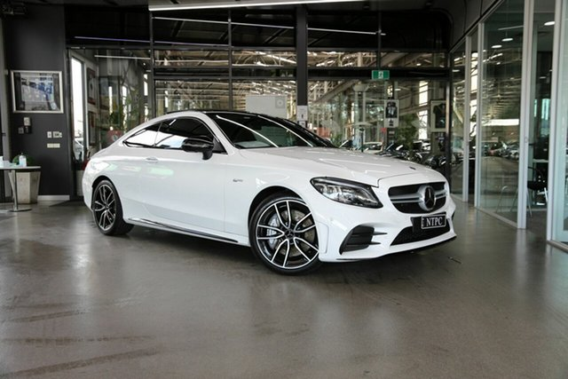 Used Mercedes-Benz C-Class C205 800+050MY C43 AMG 9G-Tronic 4MATIC North Melbourne, 2020 Mercedes-Benz C-Class C205 800+050MY C43 AMG 9G-Tronic 4MATIC White 9 Speed Sports Automatic