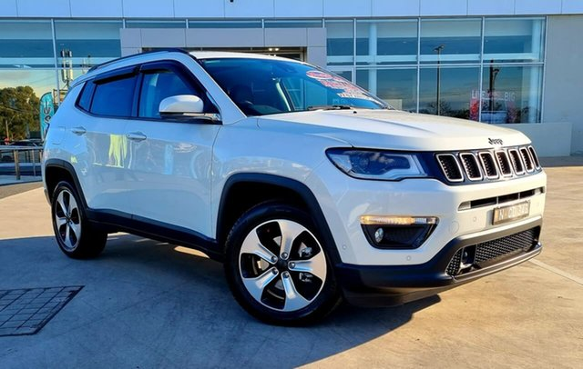 Used Jeep Compass M6 MY18 Limited Liverpool, 2018 Jeep Compass M6 MY18 Limited Vocal White 9 Speed Automatic Wagon
