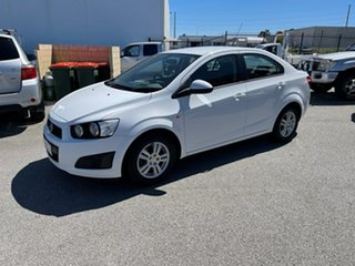 2012 Holden Barina TM MY13 CD White 5 Speed Manual Sedan.