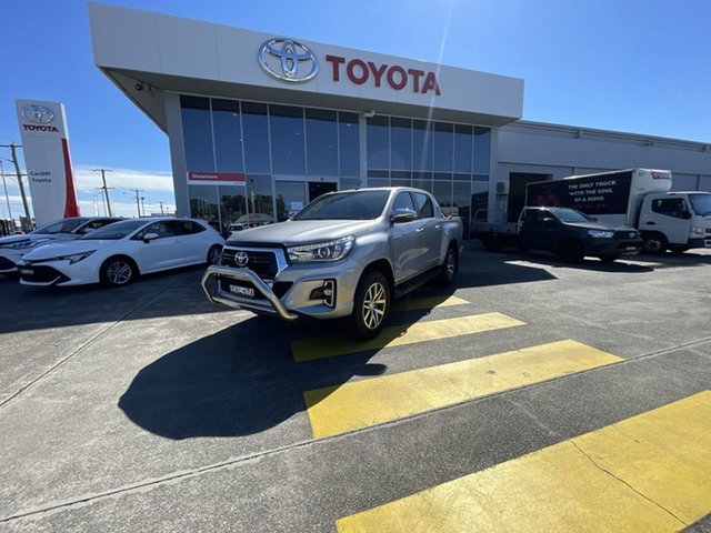 Pre-Owned Toyota Hilux GUN126R SR5 Double Cab Cardiff, 2018 Toyota Hilux GUN126R SR5 Double Cab Silver 6 Speed Sports Automatic Utility