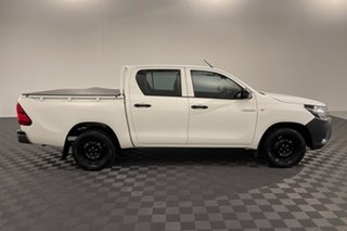 2018 Toyota Hilux TGN121R Workmate Double Cab 4x2 Glacier 6 speed Automatic Utility