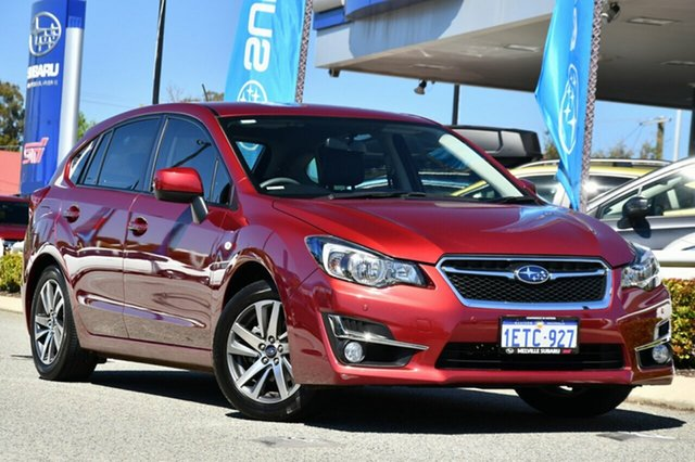 Used Subaru Impreza G4 MY15 2.0i Lineartronic AWD Premium Melville, 2015 Subaru Impreza G4 MY15 2.0i Lineartronic AWD Premium Venetian Red 6 Speed Constant Variable