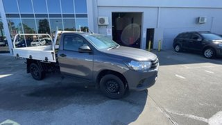 2019 Toyota Hilux TGN121R Workmate 4x2 Graphite 6 Speed Sports Automatic Cab Chassis.