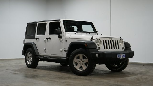 Used Jeep Wrangler JK MY2015 Unlimited Sport Welshpool, 2015 Jeep Wrangler JK MY2015 Unlimited Sport White 6 Speed Manual Softtop