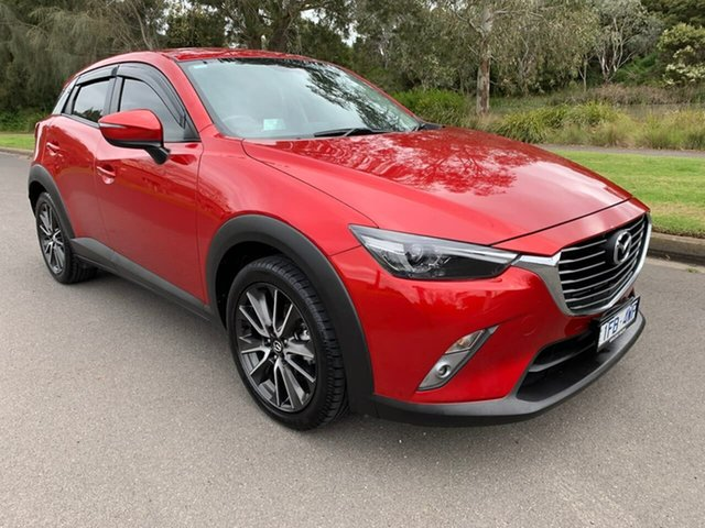 Used Mazda CX-3 DK STOURING Geelong, 2015 Mazda CX-3 DK STOURING Red Sports Automatic Wagon