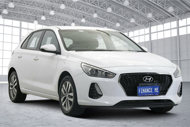 Used Hyundai i30 PD2 MY18 Active D-CT Victoria Park, 2018 Hyundai i30 PD2 MY18 Active D-CT White 7 Speed Sports Automatic Dual Clutch Hatchback