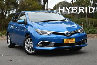 2016 Toyota Corolla ZWE186R Hybrid E-CVT Blue 1 Speed Constant Variable Hatchback Hybrid.