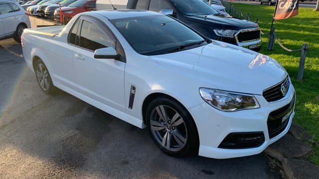 Used Holden Ute VF MY14 SV6 Ute Maitland, 2013 Holden Ute VF MY14 SV6 Ute White 6 Speed Sports Automatic Utility