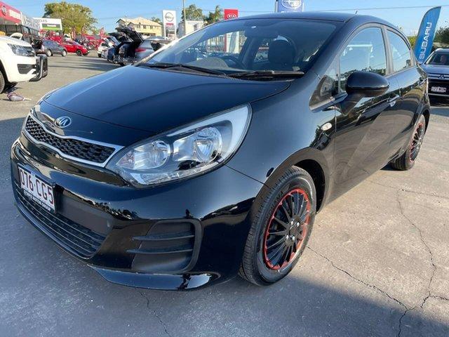 Used Kia Rio UB MY15 S Gympie, 2015 Kia Rio UB MY15 S Black 4 Speed Sports Automatic Hatchback