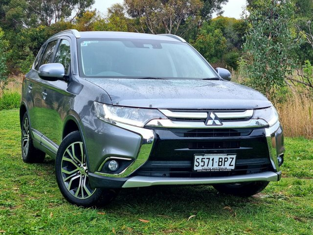 Used Mitsubishi Outlander ZK MY17 LS 4WD Safety Pack Morphett Vale, 2017 Mitsubishi Outlander ZK MY17 LS 4WD Safety Pack Titanium 6 Speed Constant Variable Wagon
