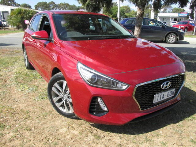 Used Hyundai i30 PD Active Echuca, 2017 Hyundai i30 PD Active Red 6 Speed Auto Sequential Hatchback