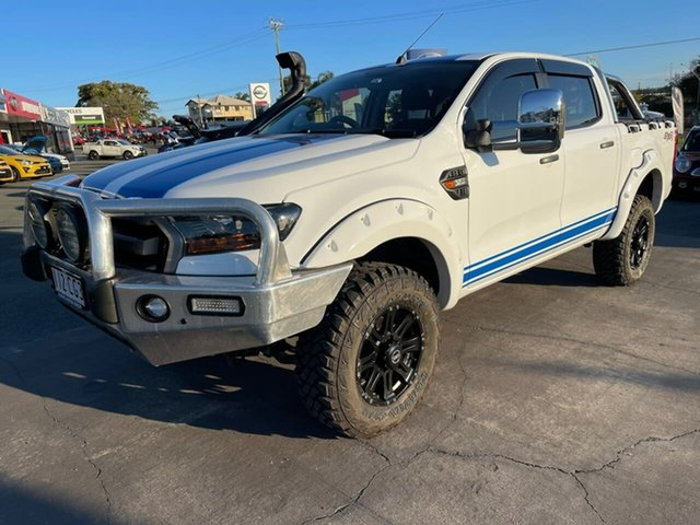 Used Ford Ranger PX MkII XLS Double Cab Gympie, 2017 Ford Ranger PX MkII XLS Double Cab White 6 Speed Manual Utility
