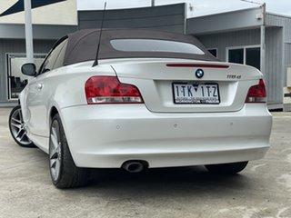 2013 BMW 1 Series E88 LCI MY1112 118d Steptronic White 6 Speed Sports Automatic Convertible.