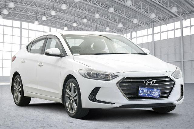 Used Hyundai Elantra AD MY18 Elite Victoria Park, 2017 Hyundai Elantra AD MY18 Elite White 6 Speed Sports Automatic Sedan