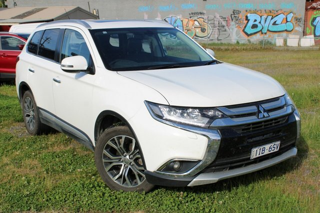 Used Mitsubishi Outlander ZK MY16 Exceed 4WD Ferntree Gully, 2016 Mitsubishi Outlander ZK MY16 Exceed 4WD White 6 Speed Sports Automatic Wagon
