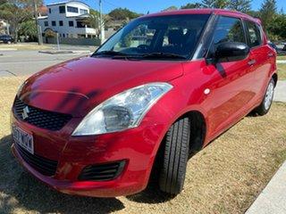 2011 Suzuki Swift FZ GA Red 5 Speed Manual Hatchback.