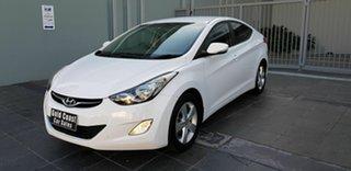2013 Hyundai Elantra MD2 Elite White 6 Speed Automatic Sedan.