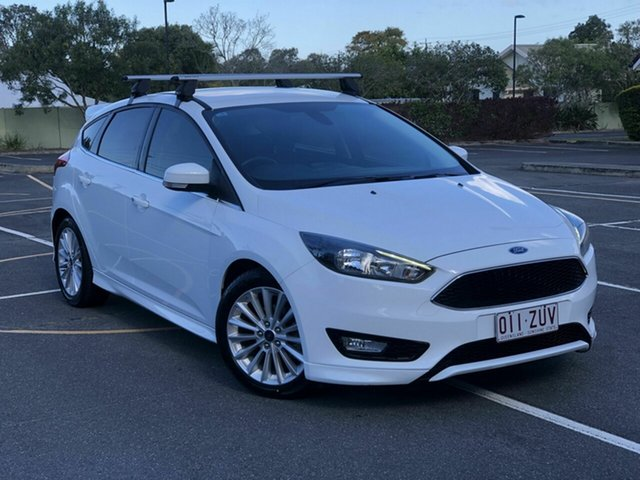 Used Ford Focus LZ Sport Chermside, 2016 Ford Focus LZ Sport White 6 Speed Automatic Hatchback