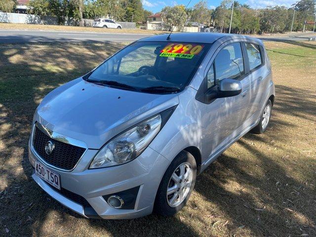 Used Holden Barina Spark MJ MY12 CD Clontarf, 2012 Holden Barina Spark MJ MY12 CD Silver 5 Speed Manual Hatchback