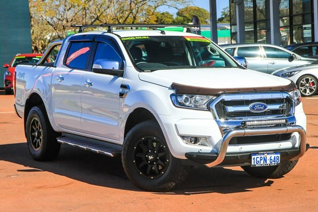 Used Ford Ranger PX MkII 2018.00MY XLT Double Cab Attadale, 2018 Ford Ranger PX MkII 2018.00MY XLT Double Cab White 6 Speed Sports Automatic Utility