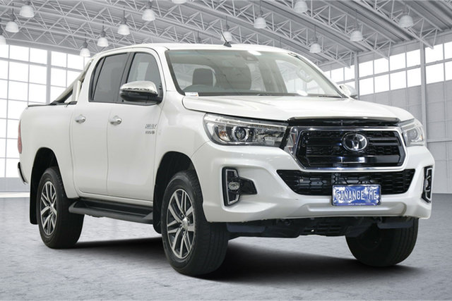 Used Toyota Hilux GUN126R SR5 Double Cab Victoria Park, 2019 Toyota Hilux GUN126R SR5 Double Cab White 6 Speed Sports Automatic Utility