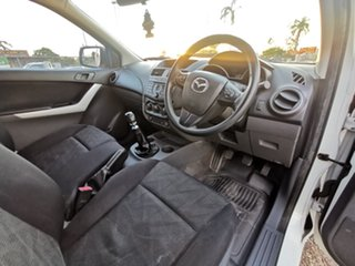 2012 Mazda BT-50 UP0YD1 XT 4x2 White 6 Speed Manual Cab Chassis