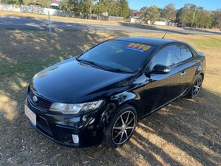 2010 Kia Cerato TD MY10 Koup Black 4 Speed Sports Automatic Coupe.