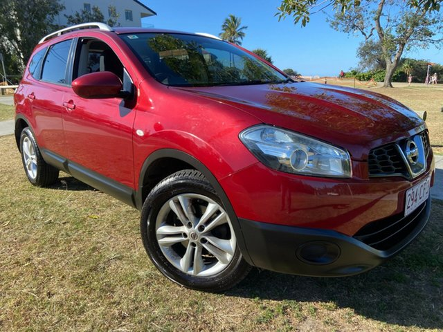 Used Nissan Dualis J107 Series 3 MY12 +2 Hatch X-tronic 2WD ST Tugun, 2013 Nissan Dualis J107 Series 3 MY12 +2 Hatch X-tronic 2WD ST Red 6 Speed Constant Variable