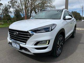 2018 Hyundai Tucson TL3 Highlander White Sports Automatic Dual Clutch Wagon.