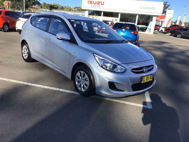 Used Hyundai Accent RB3 MY16 Active Cardiff, 2016 Hyundai Accent RB3 MY16 Active Silver 6 Speed Constant Variable Hatchback