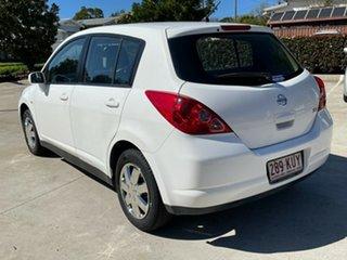 2007 Nissan Tiida C11 MY07 ST White 4 Speed Automatic Hatchback