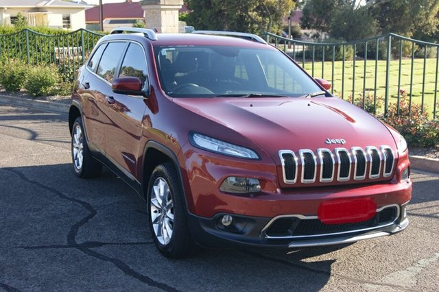 Used Jeep Cherokee KL MY15 Limited (4x4) Blair Athol, 2014 Jeep Cherokee KL MY15 Limited (4x4) Red 9 Speed Automatic Wagon