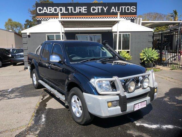 Used Nissan Navara D40 ST-X (4x4) Morayfield, 2008 Nissan Navara D40 ST-X (4x4) Blue 5 Speed Automatic Dual Cab Pick-up