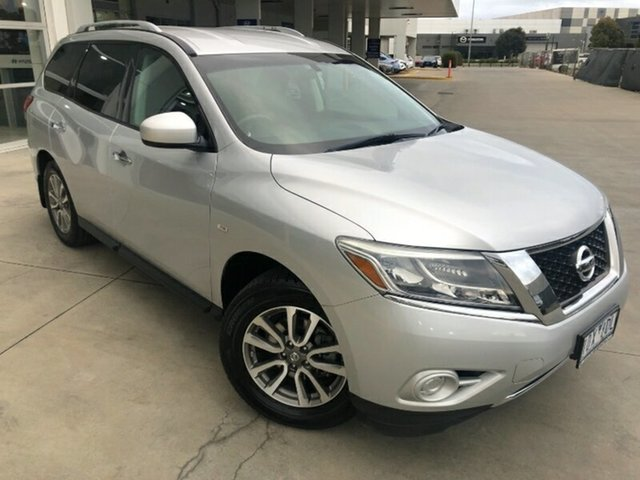 Used Nissan Pathfinder R52 MY14 ST X-tronic 2WD Melton, 2014 Nissan Pathfinder R52 MY14 ST X-tronic 2WD Silver 1 Speed Constant Variable Wagon