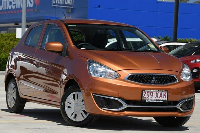 Used Mitsubishi Mirage LA MY15 ES Aspley, 2016 Mitsubishi Mirage LA MY15 ES Burnt Orange 5 Speed Manual Hatchback