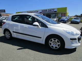 2009 Peugeot 308 T7 XS White 5 Speed Manual Hatchback.