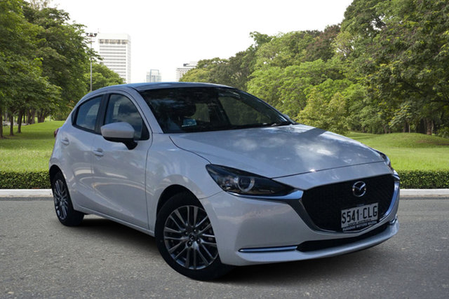 Demo Mazda 2 DJ2HAA G15 SKYACTIV-Drive Evolve Paradise, 2021 Mazda 2 DJ2HAA G15 SKYACTIV-Drive Evolve White Pearl 6 Speed Sports Automatic Hatchback
